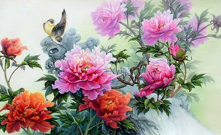 Пионы в китайской живописи