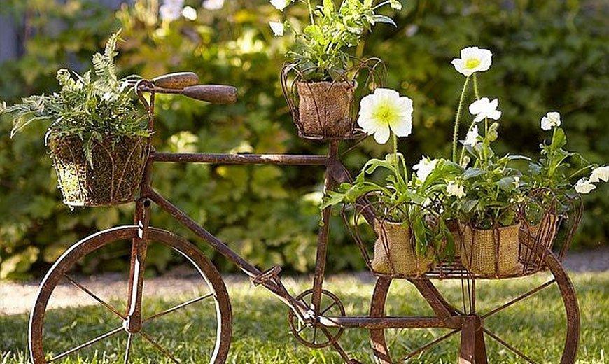 Декоративный велосипед-корзина