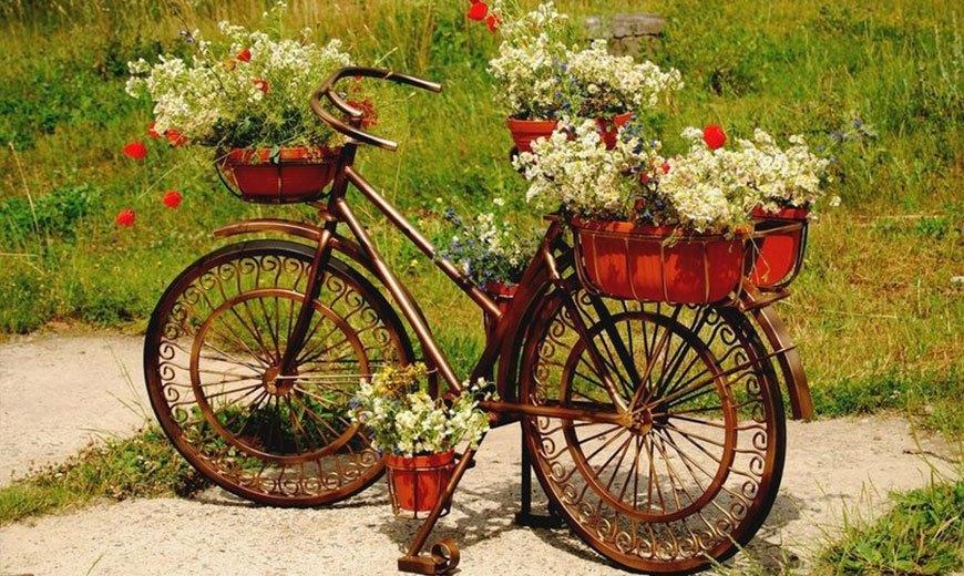 Декоративный велосипед для сада