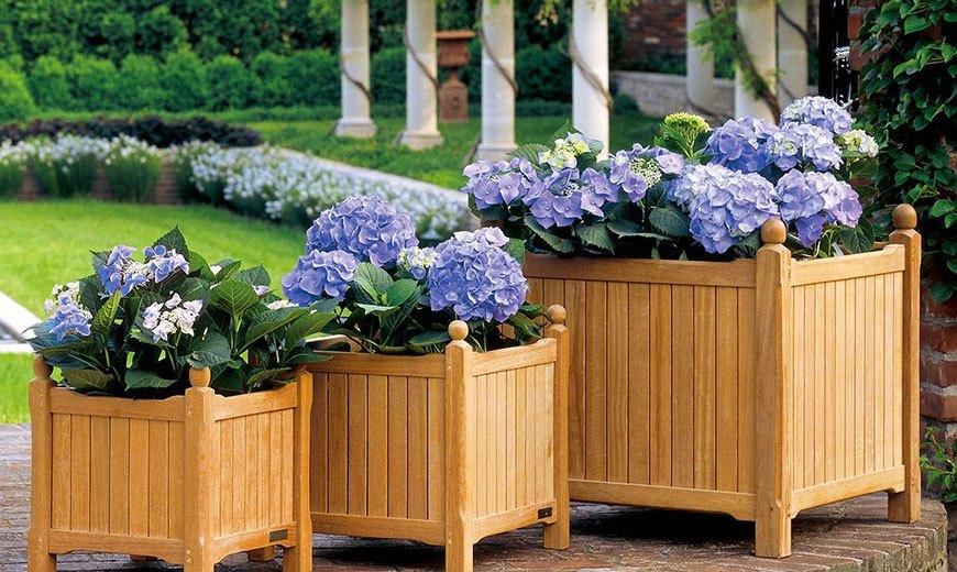Декоративные корзины для сада