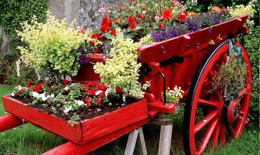 Телега садовая