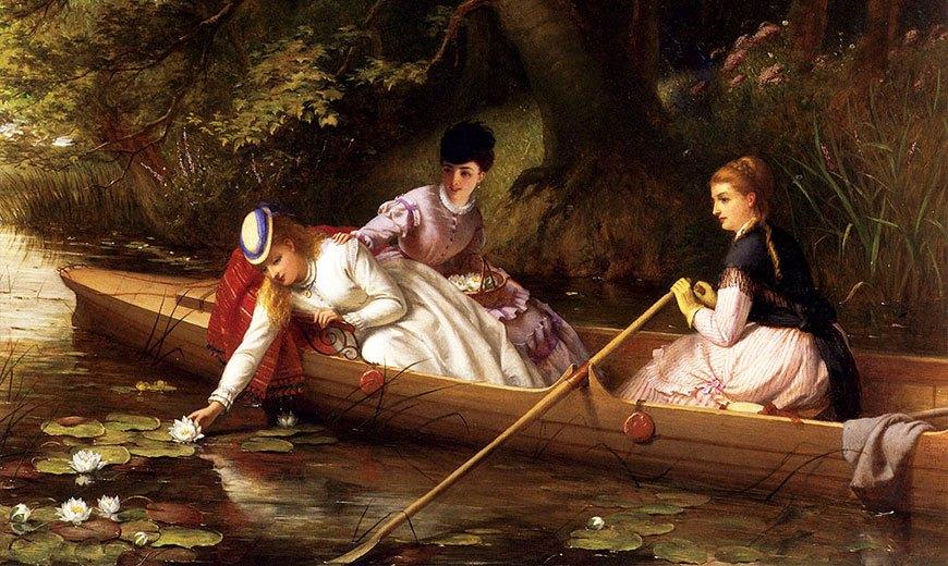 Девушки с водными лилиями