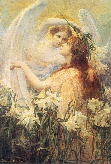 Сон с ангелами и лилиями