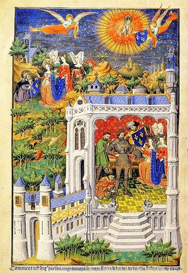Король Хлодвиг с лилиями