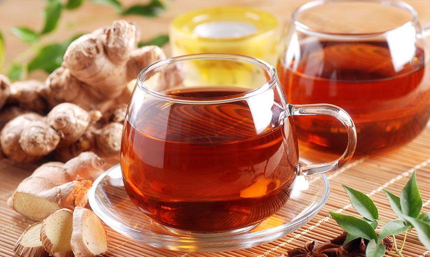 Полезный чай с имбирем