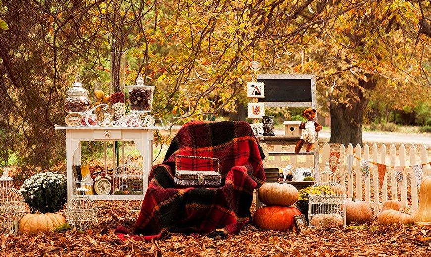 Осенний декор в саду