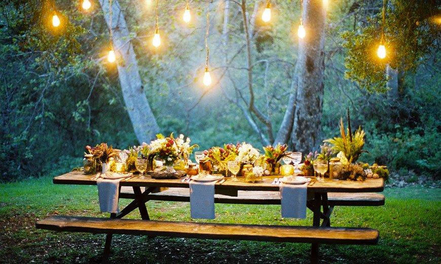 Осенний ужин в саду