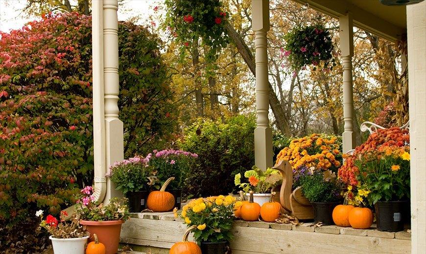 Осенний декор на веранде