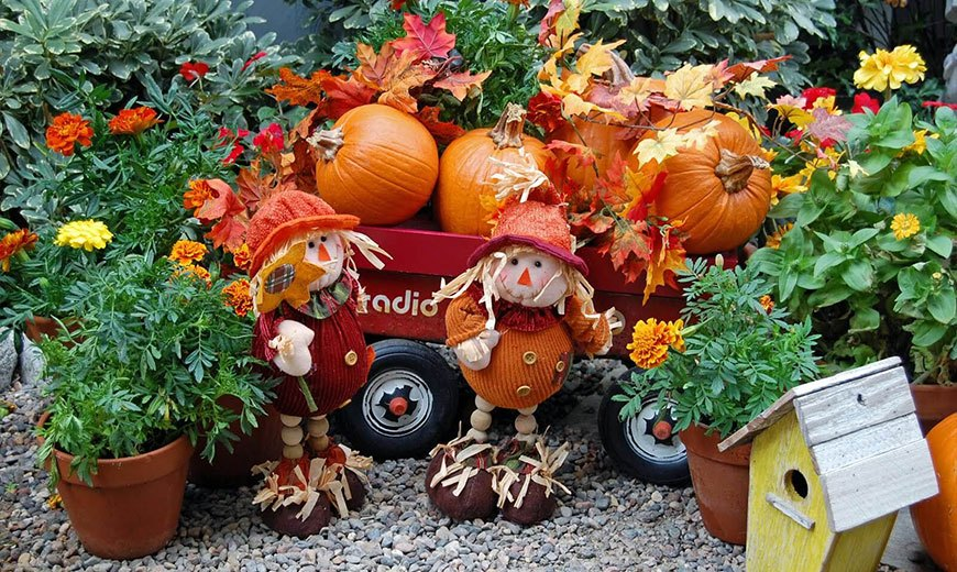 Осенний декор с тыквами