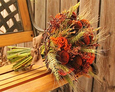 Осенний сухой букет