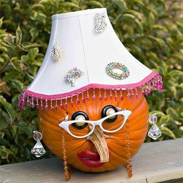 Лампа из тыквы
