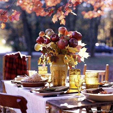 Осенний букет из яблок
