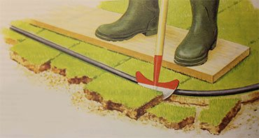 Обрезка рулонного газона