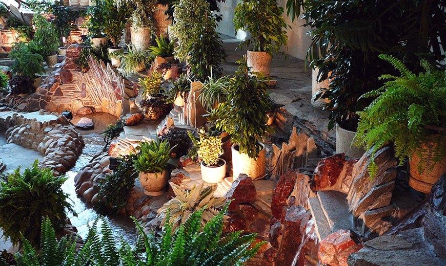 Каменистый зимний сад
