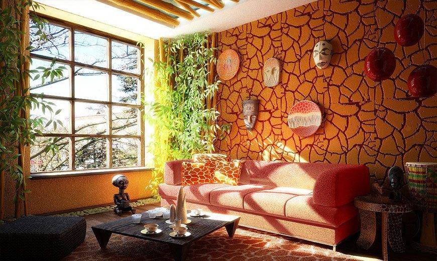 Зимний сад в африканском стиле