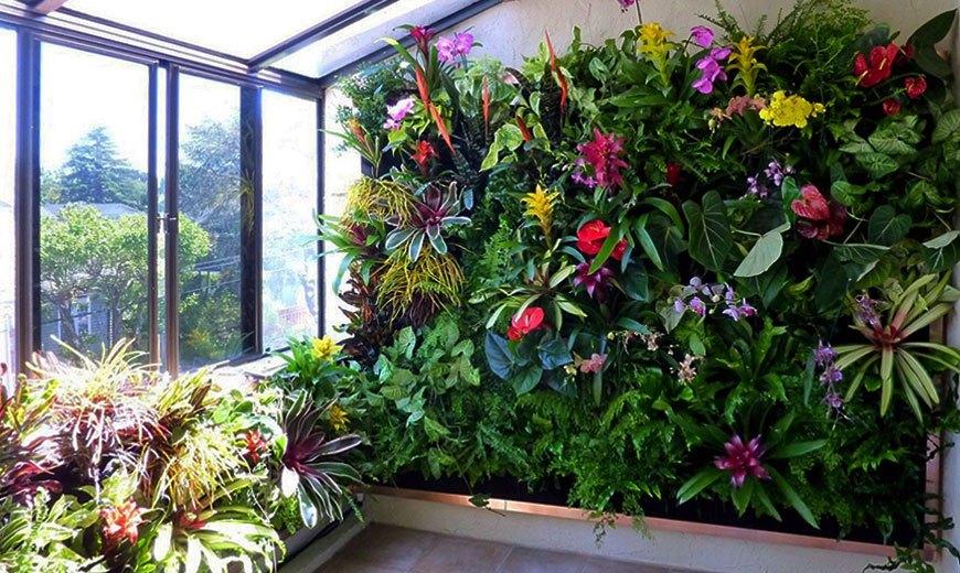 Вертикальная цветочная стена