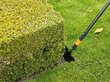 Обрезка газона