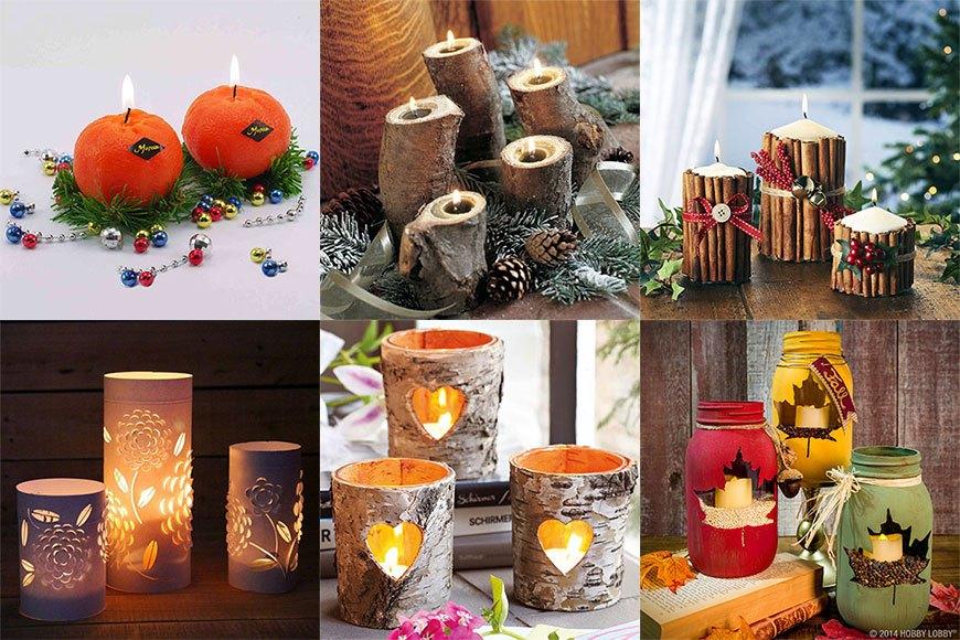 Варианты новогодних свечей