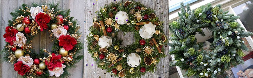 Хвойные рождественские венки