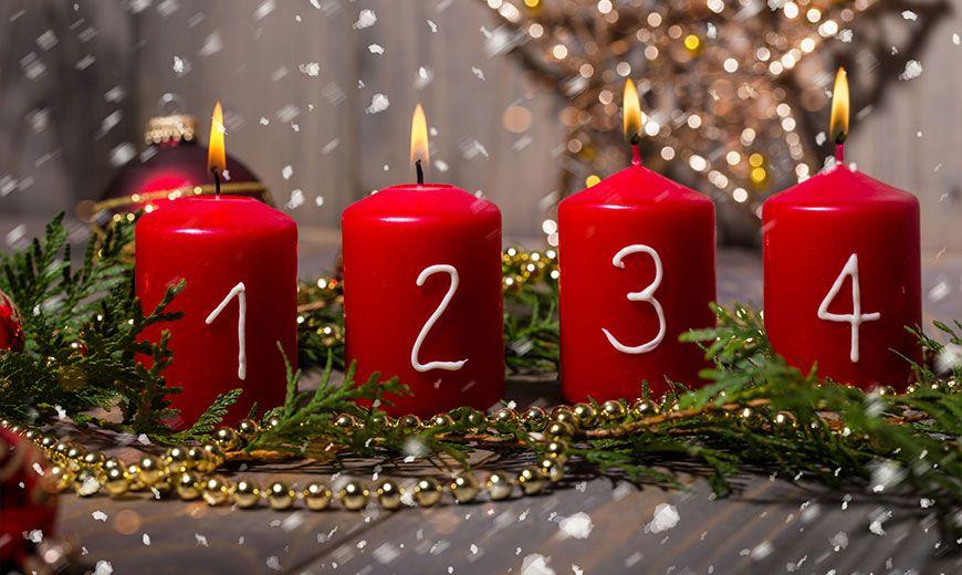 Рождественские годовые свечи