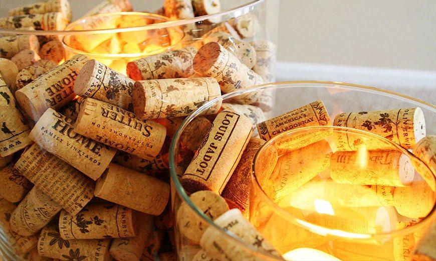 Креативные свечи из пробок