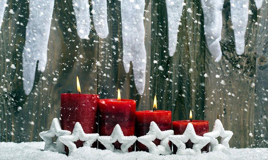 Красные свечи для сада