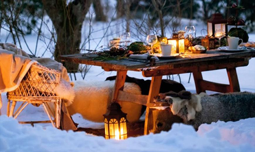 Ужин в зимнем саду