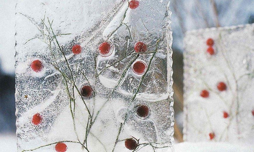 Ледяная композиция для сада