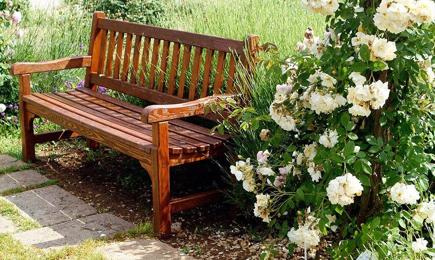 Деревянные садовые скамейки