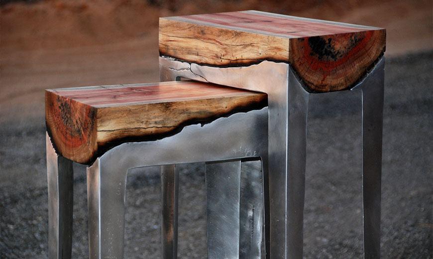 Дизайнерские алюминиевые скамейки