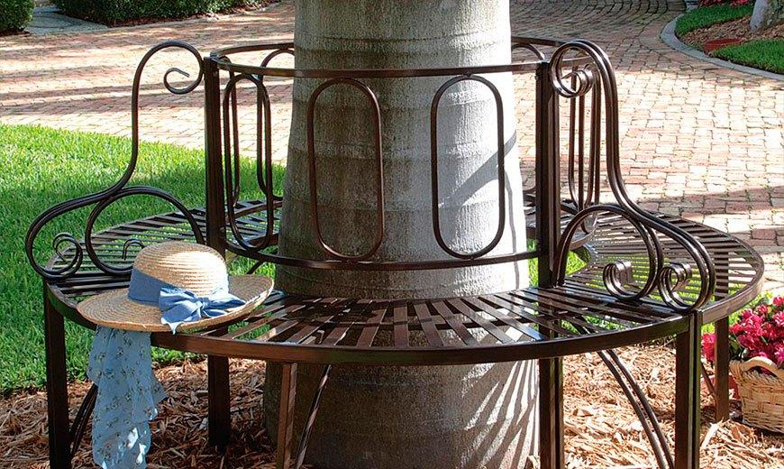 Круглая скамейка