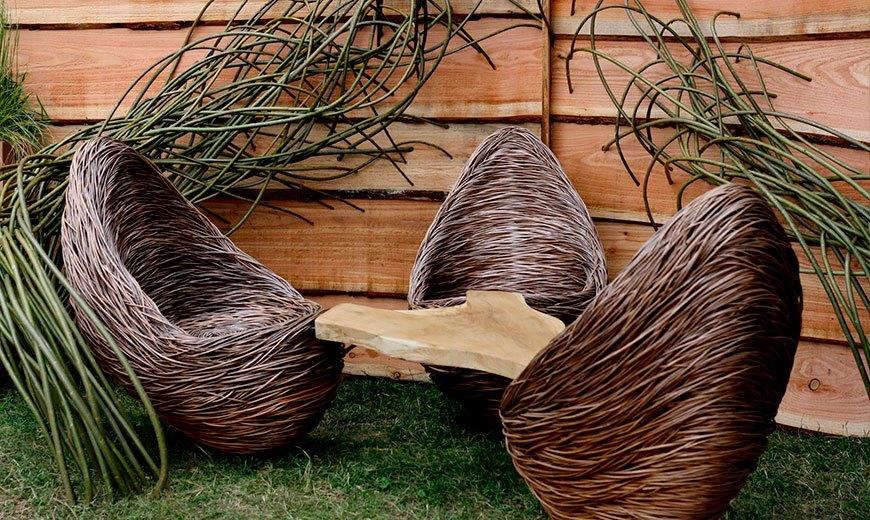 Плетение из мебели из ивы