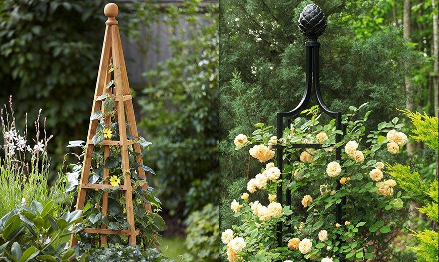Опоры и обелиски для растений